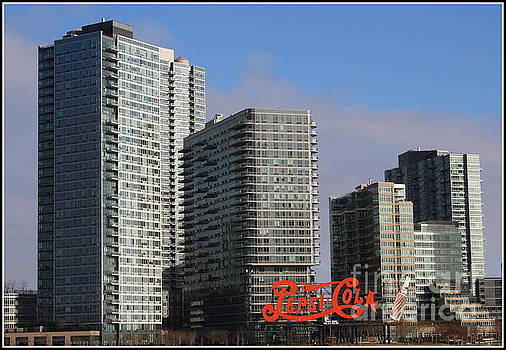 Gantry Plaza State Park and Iconic Pepsi Cola Sign, New York City by Dora Sofia Caputo Photographic Art and Design