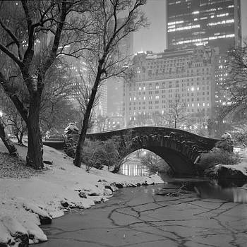 Gapstow Bridge In Snow by Randy Lemoine