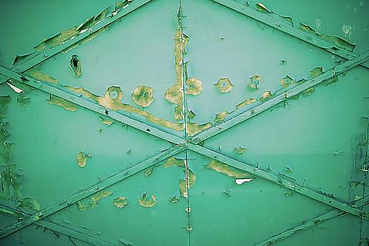 Garage Door with Peeling Paint by YoPedro