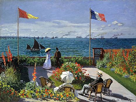 Garden at Sainte Adresse by Claude Monet by Travel Pics