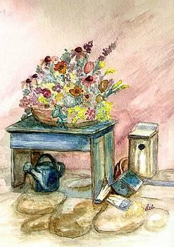 Garden Bench by Deb Stroh Larson