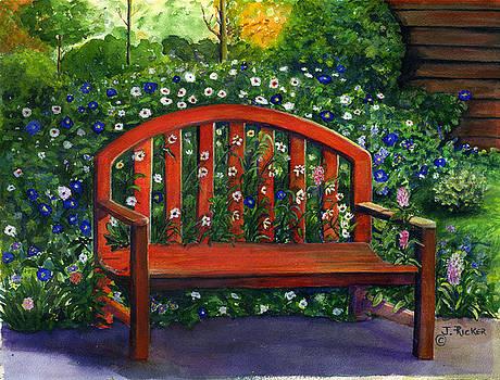 Garden Bench by Jane Ricker