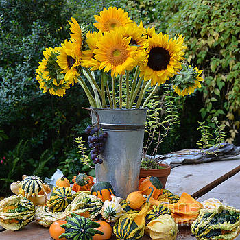 Garden Bounty in Yellow and Green by Tanya Searcy