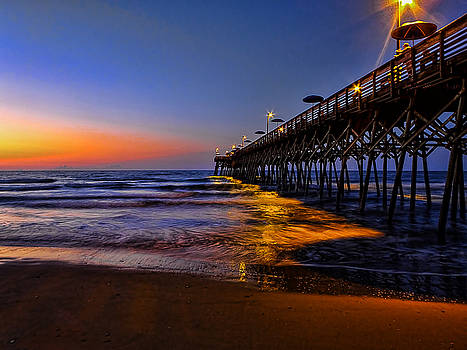 Garden City Beach Pier by Terry Shoemaker