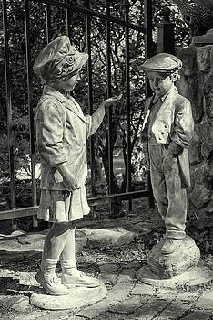 Garden Figures BW by Jim Thompson