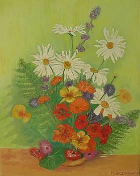 Garden flowers by Ewa Smyczynska