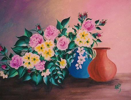 Garden Flowers by Iris  Mora