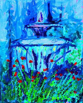 Garden Fountain by Lynn Rogers