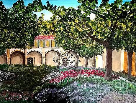 Garden in Bloom, Arles by Irving Starr