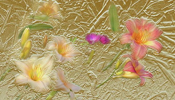 Garden in Gold Leaf2 by Steve Karol