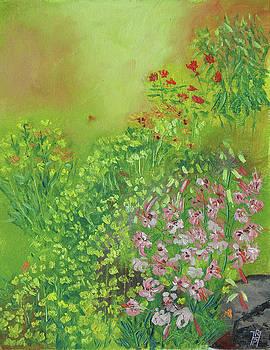 Garden in July by Robert P Hedden