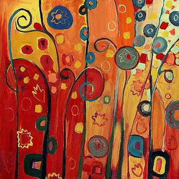 Garden Joy in Red by Jennifer Lommers