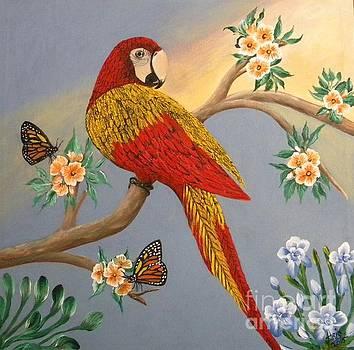 Garden Macaw by Iris  Mora