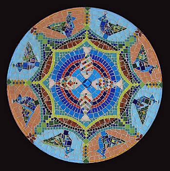 Garden Mandala  by Anju Jolly
