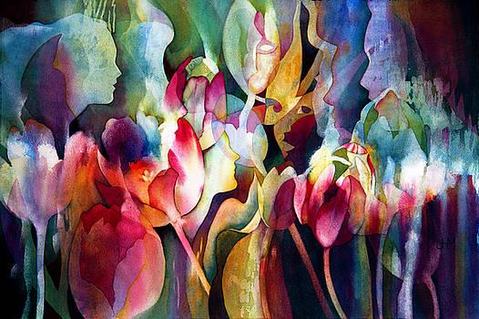 Garden Nymphs by Judith Hallbeck Meyeraan