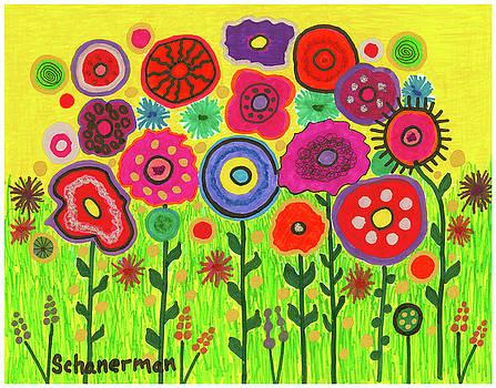 Garden of Blooming Brilliance by Susan Schanerman