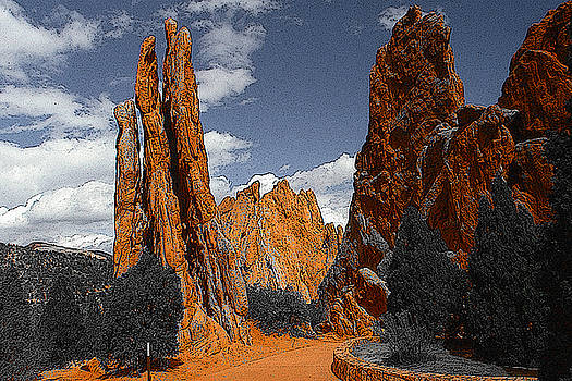 Garden of Gods Colorado by Art America Gallery Peter Potter