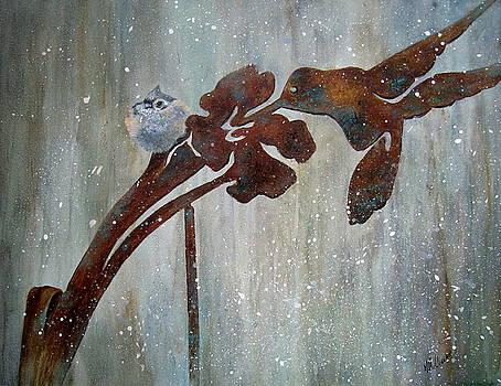 Garden Ornament-Titmouse by Mary McCullah