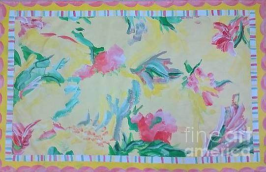Garden Party Floorcloth by Judith Espinoza