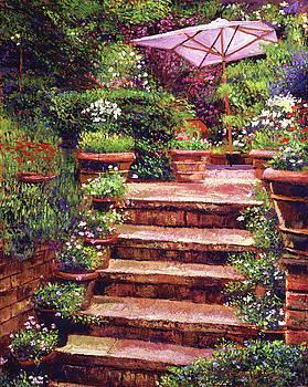 Garden Patio Stairway by David Lloyd Glover