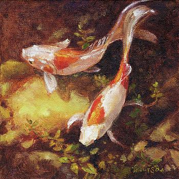 Garden Pond Goldfish 1 by Tracie Thompson