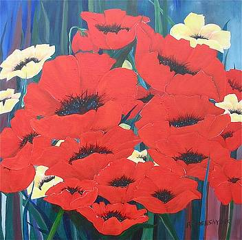 Garden Poppies by Barbara Remensnyder