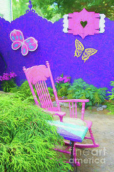 Garden Rocking Chair by Marilyn Cornwell