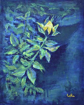Usha Shantharam - Garden Rose -Yellow