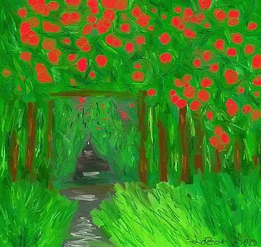 Garden Roses by Lazar Caran