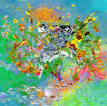 Dorothy  Pugh - Garden Seat on a Windy Day