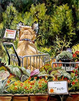Garden Store Dog by Cheryl Pass