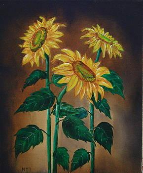 Garden Sunflowers by Christopher Keeler Doolin