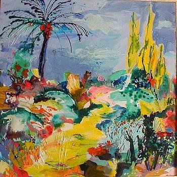 Garden with palm tree by Maria Antonia Cerda