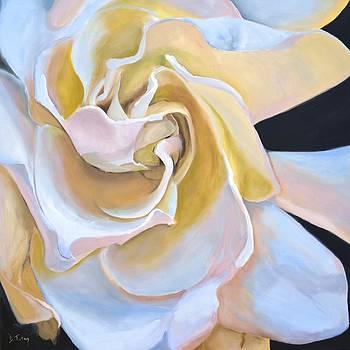 Gardenia Oil Painting by Donna Tuten