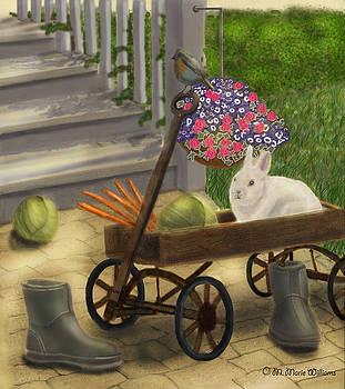 Gardening Day by M Marie Art