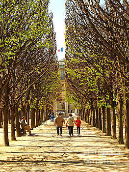Gardens of the Palais Royal by Alex Cassels