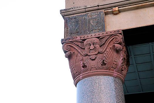 Gargoyle 1 - Ornate Column - Kearney, Nebraska by Andrea Kelley