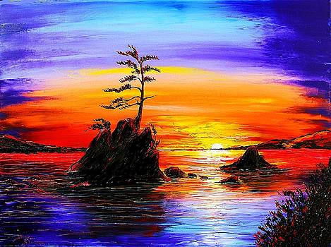 Garibaldi Beach At Sunset #7 by Portland Art Creations