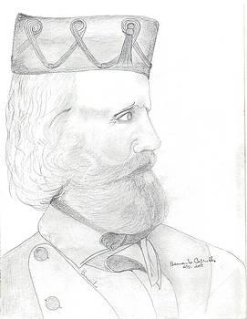 Garibaldi Portrait by Bernardo Capicotto