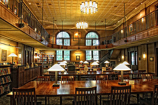 Garland Library Interior by Earl Carter