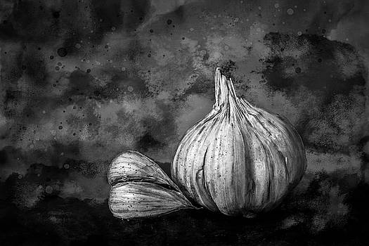 Garlic Still Life In Black And White by Michael Arend