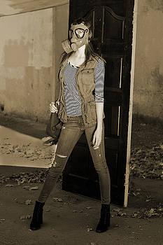 Gas Mask Girl  by Pamela Patch