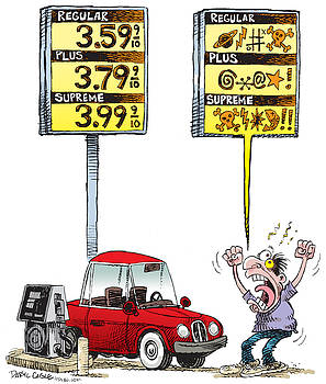 Gas Price Curse by Daryl Cagle