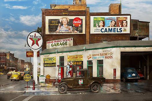Mike Savad - Gas Station - Benton Harbor MI - Indian Trails gas station 1940