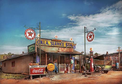 Mike Savad - Gas Station - Oklahoma Service Station 1939
