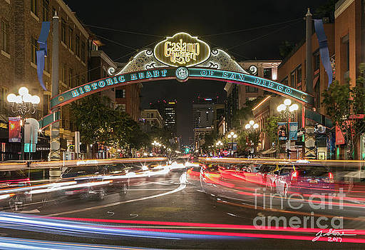 Gaslamp District Sign by Jeffrey Stone