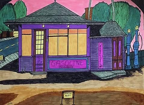 Gasoline Alley Mobil Oil. Historic Menominee Art. by Jonathon Hansen