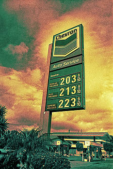 Gasoline Prices on Stormy Day by YoPedro