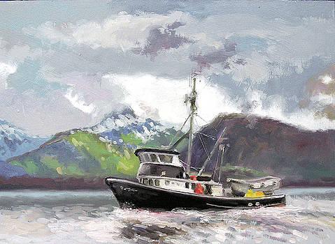 Gastineau Channel Seining Boat- Alaska by Larry Seiler
