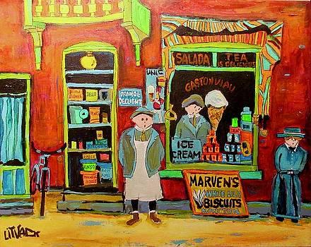 Gaston Viau Store Verdun Avenue Verdun 1910 by Michael Litvack